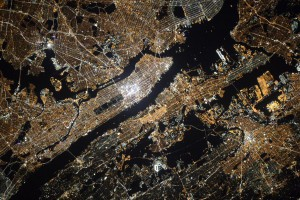 New York City as seen by a russian cosmonaut