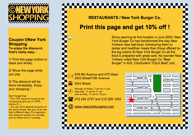 Nyc discount coupons