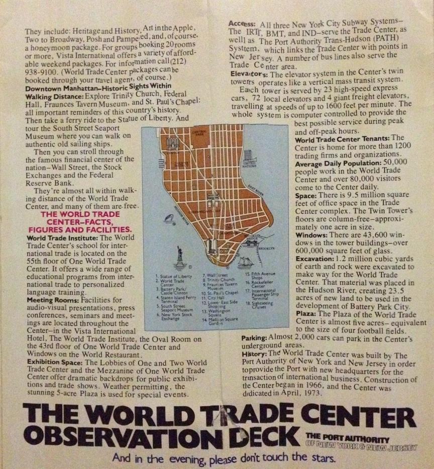 brochure world trade center