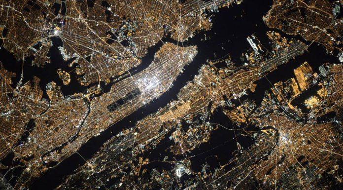 New York vu de l'espace