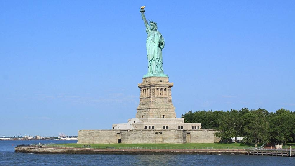 The statue of Liberty from the ferry