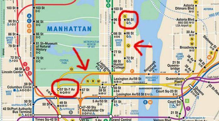 subway line