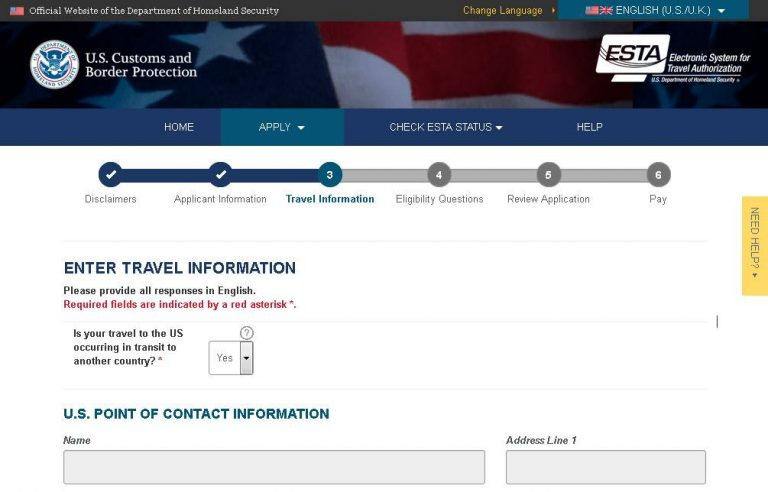 Do I need to apply for ESTA for my flight stop in the USA?