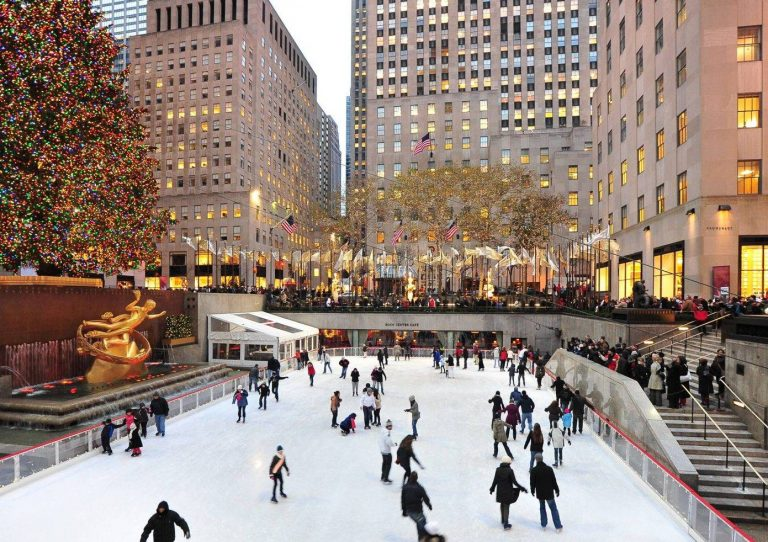 The Rockefeller Center ice rink is now open until 23rd February 2019