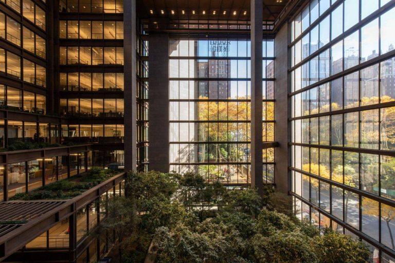 An Indoor Garden In The Heart Of A New York City's Skyscraper.